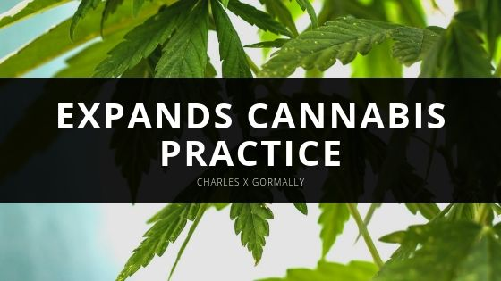 Charles X Gormally - Expands Cannabis Practice